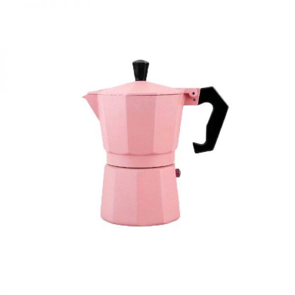 قهوه ساز موکاپات رنگ صورتی سایز 1 نفره
