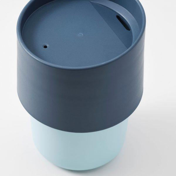 ماگ ایکیا مدل TROLIGTVIS رنگ آبی