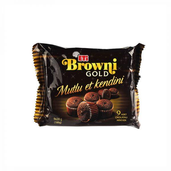 کیک اتی برانی گلد Eti Browni Gold تعداد 9 عددی