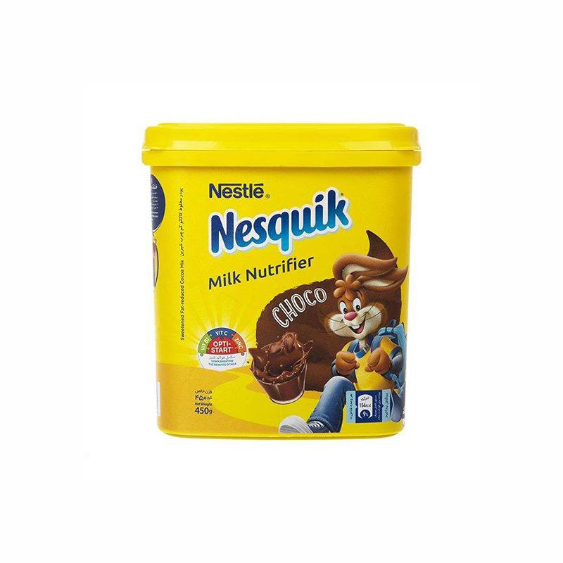 پودر شکلات نسکوئیک نستله مدل Milk Nutrifier مقدار 450 گرم