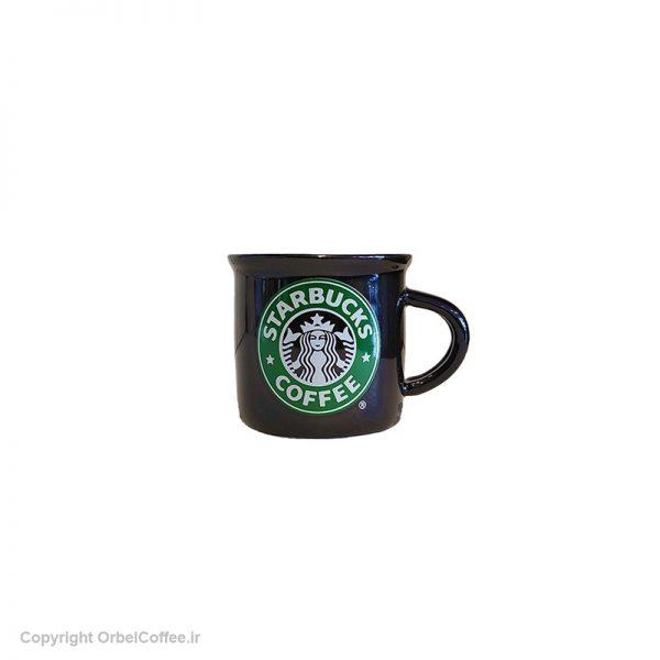 فنجان سرامیکی قهوه استارباکس مشکی 6 عدد