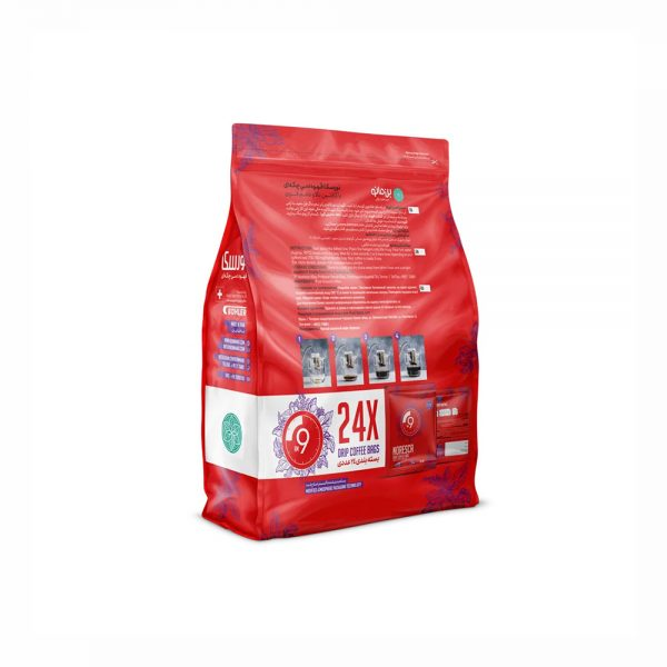 قهوه نورسکا بن مانو مدل 9 صبح بسته 24 عددی