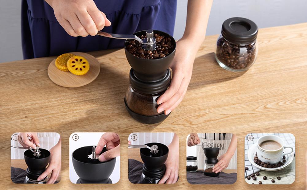 آسیاب دستی قهوه مدل دو مخزن