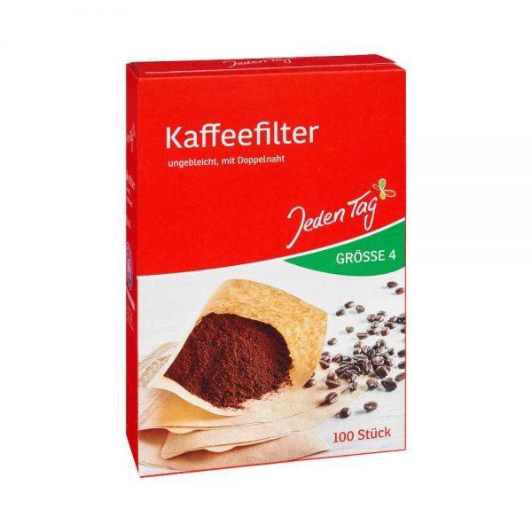 فیلتر قهوه جدن تگ Jeden Tag سایز 4 بسته 100 عددی
