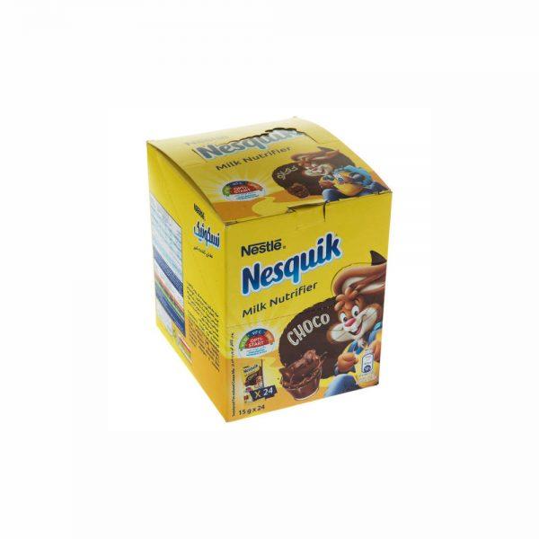 پودر شکلات نسکوئیک نستله مدل Milk Nutrifier بسته 24 عددی