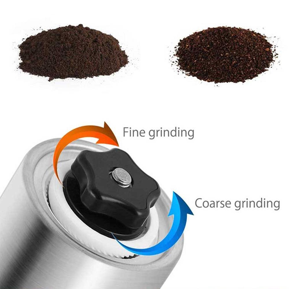 آسیاب دستی قهوه مدل قلمی استیل